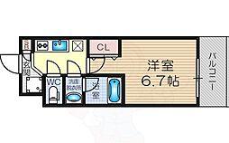 Osaka Metro御堂筋線 東三国駅 徒歩7分の賃貸マンション 4階1Kの間取り
