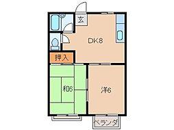 ハイツコサカI[2階]の間取り