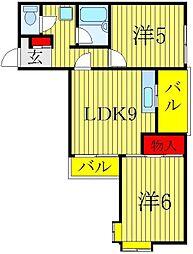 第1長谷川マンション[1階]の間取り