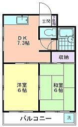 NTハイツ萩山[3階]の間取り