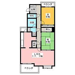 佐鳴湖パークタウン12号棟[3階]の間取り