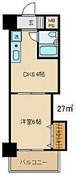 ダイアパレス高崎中央[706号室]の間取り