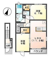 プリート I・II[2階]の間取り