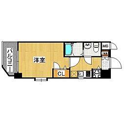 ピュアドーム箱崎アートリア[5階]の間取り