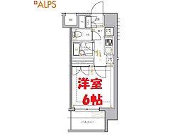 JR京浜東北・根岸線 関内駅 徒歩9分の賃貸マンション 3階1Kの間取り