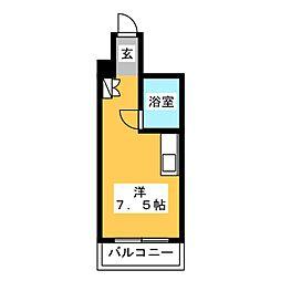 チサンマンション第一博多[5階]の間取り