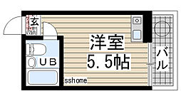 岡本ビラ[106号室]の間取り