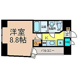 愛知県名古屋市中区大須3の賃貸マンションの間取り