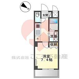 (仮称)堺市堺区向陵中町3丁新築賃貸マンション 3階1Kの間取り