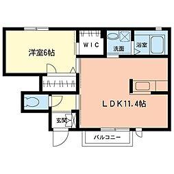 TAMURA弐番館[1階]の間取り
