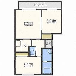 サンステージ410[4階]の間取り