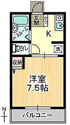 リバティ22A[1階]の間取り