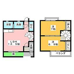 [テラスハウス] 愛知県一宮市長島町2丁目 の賃貸【愛知県 / 一宮市】の間取り