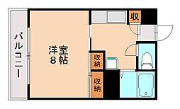 福岡県福岡市城南区南片江6丁目の賃貸マンションの間取り