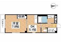 ソレアート伊福[6階]の間取り