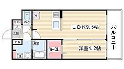 プレサンス京都二条 京華[7階]の間取り