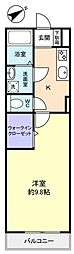 千葉県船橋市習志野台7丁目の賃貸アパートの間取り