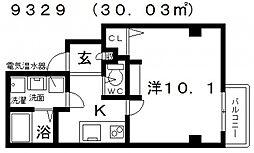エヌエムサンカンテドゥ[4FB号室号室]の間取り