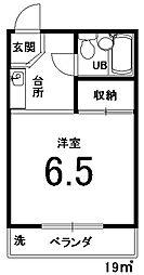 シャトレ壬生[205号室]の間取り