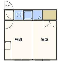 第6森宅建菊水ビル[2階]の間取り