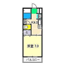 コーポ・スライビング B棟[2階]の間取り