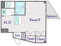 フェイス中ノ宮[2階]の間取り
