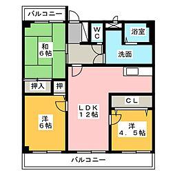 レジデンス安井[1階]の間取り
