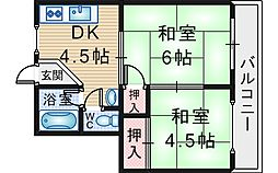 西村マンション[203号室]の間取り