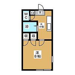 ラ・メゾン・ア・ドーム[2階]の間取り