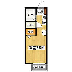 セジュール竹田[1階]の間取り