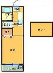 プレステージ 206号室[206号室]の間取り