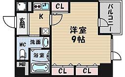 プロシード西長堀[14階]の間取り