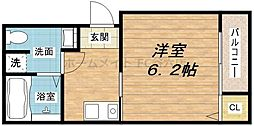 大阪府大阪市東成区中道4丁目の賃貸アパートの間取り