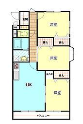 静岡県駿東郡清水町長沢の賃貸アパートの間取り