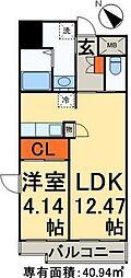 東京メトロ千代田線 根津駅 徒歩1分の賃貸マンション 5階1LDKの間取り