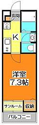 メゾンドクレフ[1階]の間取り