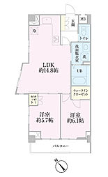 中新井サンライトマンション[202号室]の間取り
