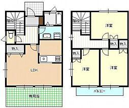 [タウンハウス] 広島県広島市西区己斐中3丁目 の賃貸【/】の間取り