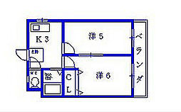 エンジェリ津之江[4階]の間取り