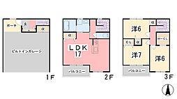 [テラスハウス] 兵庫県姫路市飾磨区阿成植木 の賃貸【兵庫県 / 姫路市】の間取り
