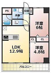 (仮称)新喜多東1丁目新築マンション[2階]の間取り
