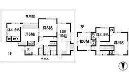 [一戸建] 兵庫県川西市清和台西2丁目 の賃貸【/】の間取り