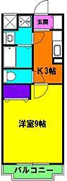 静岡県浜松市東区上石田町の賃貸マンションの間取り