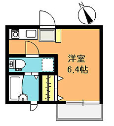 埼玉県上尾市柏座4丁目の賃貸アパートの間取り