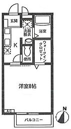 コンフォート戸塚[103号室号室]の間取り