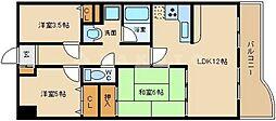 コスモ鶴見緑地[2階]の間取り