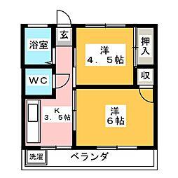 びわざとマンション[3階]の間取り