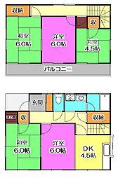 [一戸建] 東京都小平市小川西町3丁目 の賃貸【/】の間取り