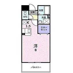 ボナール新中町[3階]の間取り