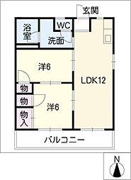 プチタウン神沢A棟[1階]の間取り